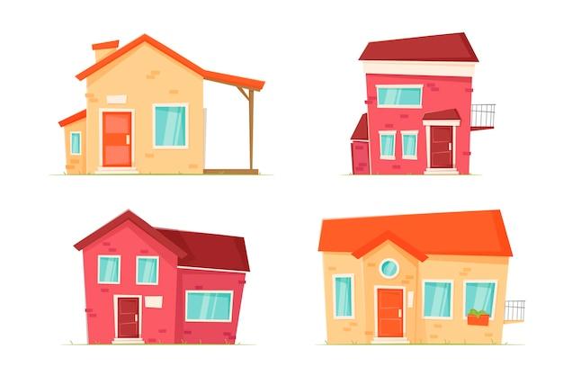 Haus sammlung thema Kostenlosen Vektoren