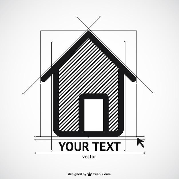 Haus-Skizze-Vorlage   Download der kostenlosen Vektor