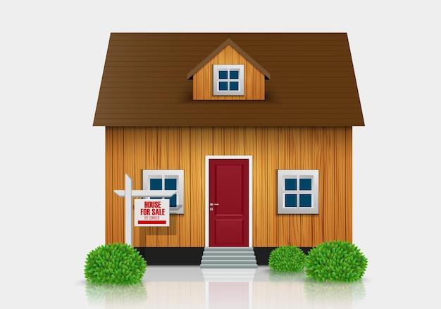 Haus zu verkaufen illustration Premium Vektoren