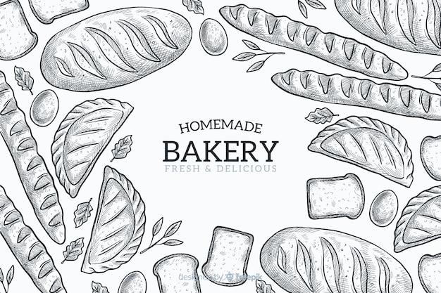 Hausgemachte bäckerei hintergrund Kostenlosen Vektoren