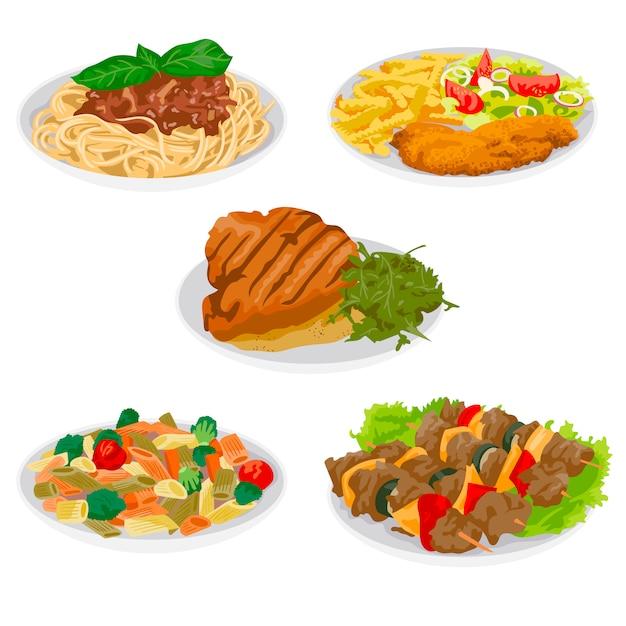 Hausgemachtes essen Kostenlosen Vektoren