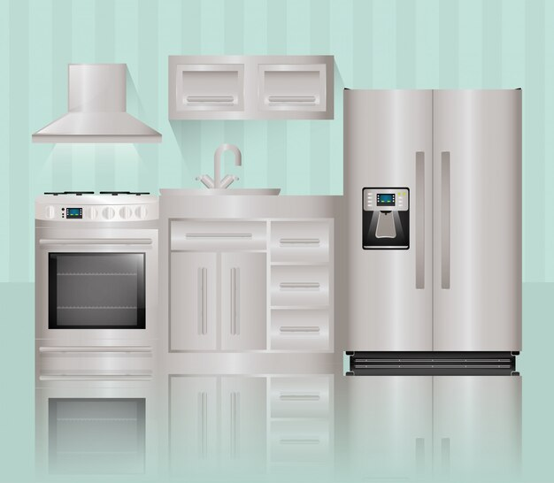 Haushaltsgeräte design. Premium Vektoren