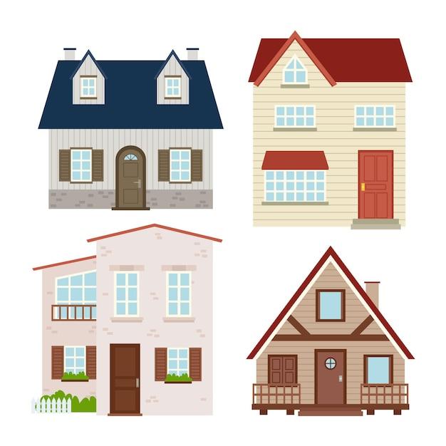 Hauskollektion design Premium Vektoren