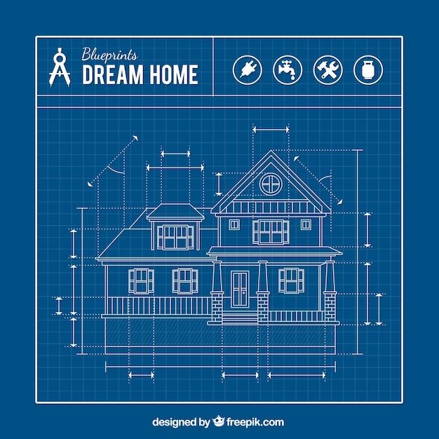 Hauslichtpause Kostenlosen Vektoren