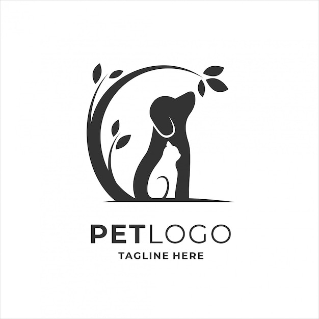 Haustier logo design Premium Vektoren