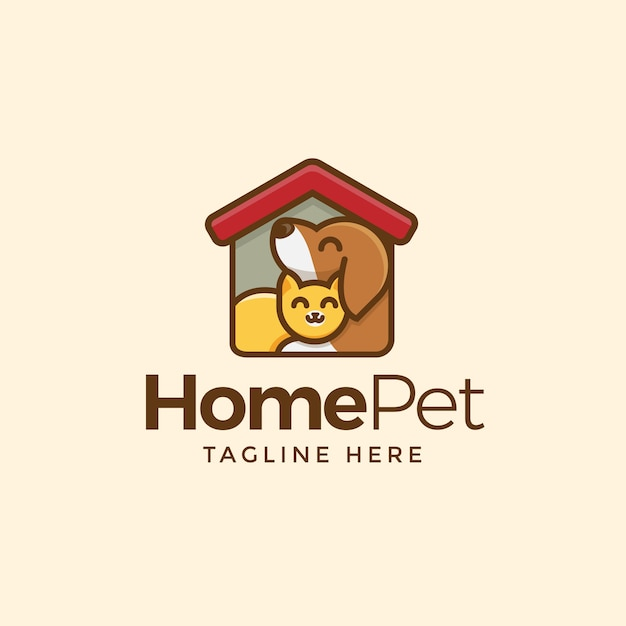 Haustier-logo Premium Vektoren