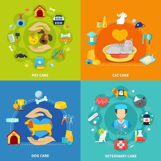Haustierpflege-set Kostenlosen Vektoren