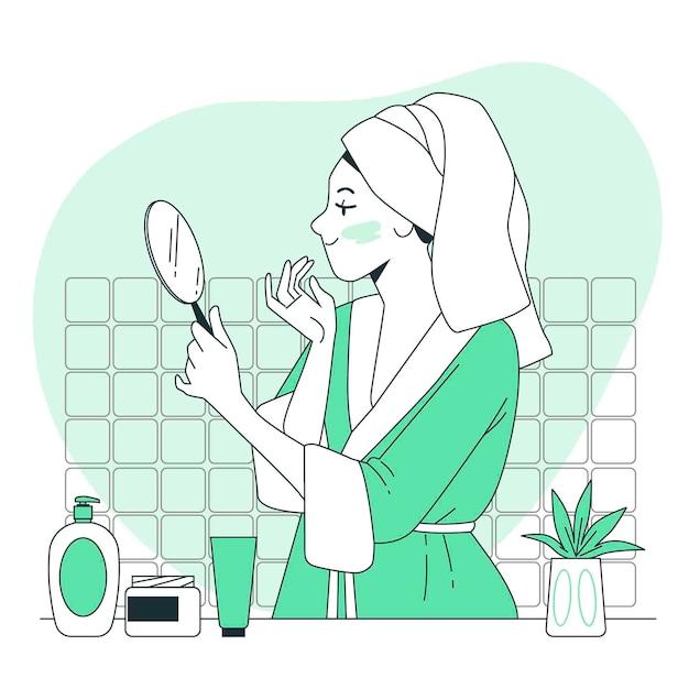 Hautpflege-konzeptillustration Kostenlosen Vektoren