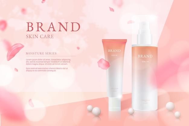 Hautpflege kosmetische anzeige Kostenlosen Vektoren