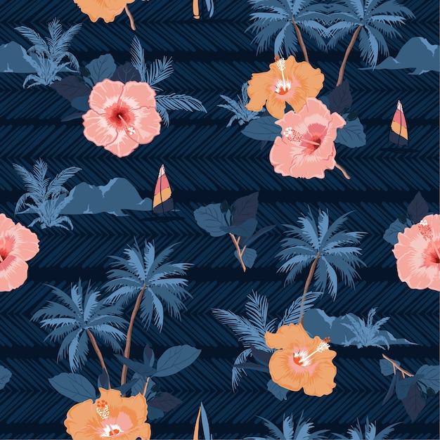 Hawaiian Pattern Blue By Hellohelloaloha Redbubble 0