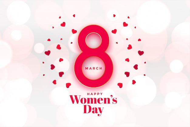 Heappy womens day herzen hintergrund schön Kostenlosen Vektoren