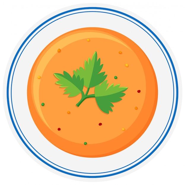 Heiße suppe in schüssel Kostenlosen Vektoren