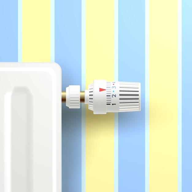 heizk rper mit temperaturregler download der kostenlosen vektor. Black Bedroom Furniture Sets. Home Design Ideas