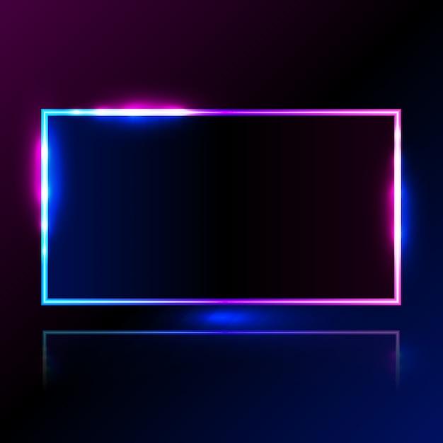 Hellblauer rosa vektorillustrationsrahmen des rechtecks für förderungswerbung Premium Vektoren