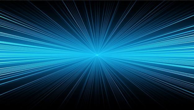 Hellblauer zoom-abstrakter hintergrund Premium Vektoren
