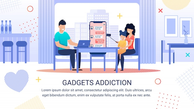 Helle banner inschrift gadgets sucht vorlage Premium Vektoren