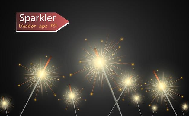 Helle schöne lichter designelemente leuchtende lichter Premium Vektoren
