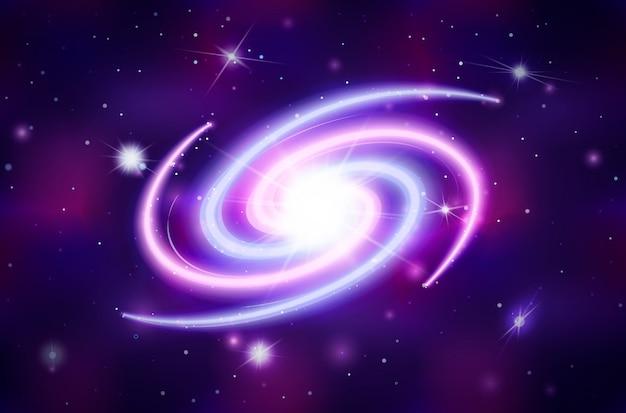 Helle spirale galaktisch Premium Vektoren