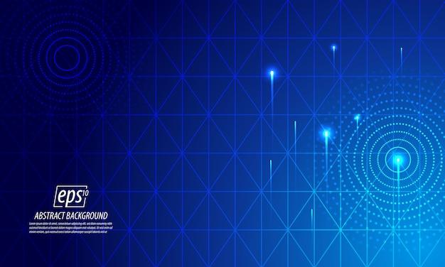 Heller abstrakter hintergrund der blauen technologie Premium Vektoren