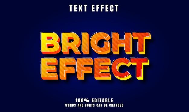 Heller effekt text 3d moderner stileffekt Premium Vektoren