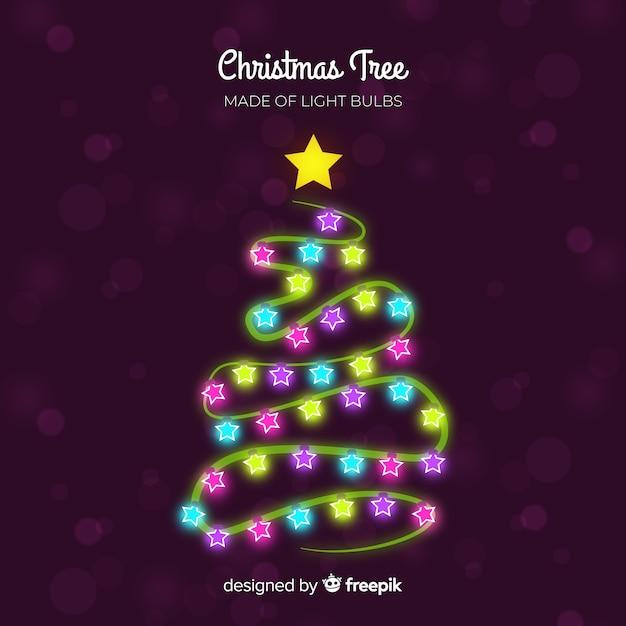 Heller girlanden-weihnachtsbaumhintergrund Kostenlosen Vektoren