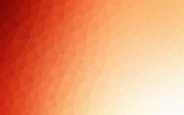 Hellorangeer vektordreieck-mosaikhintergrund. Premium Vektoren