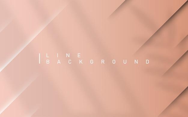 Hellrosa luxushintergrund. abstrakter bunter hintergrund der abstrakten diagonalen linie mit dynamischem schatten des überlagerungsblattes und des fensterlichts. Premium Vektoren