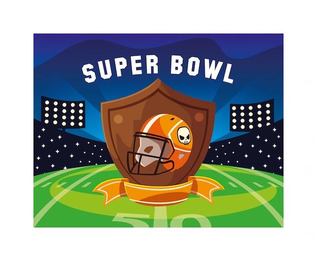 Helm von football american mit Premium Vektoren