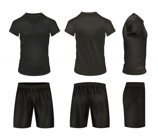 Hemden und shorts set Kostenlosen Vektoren