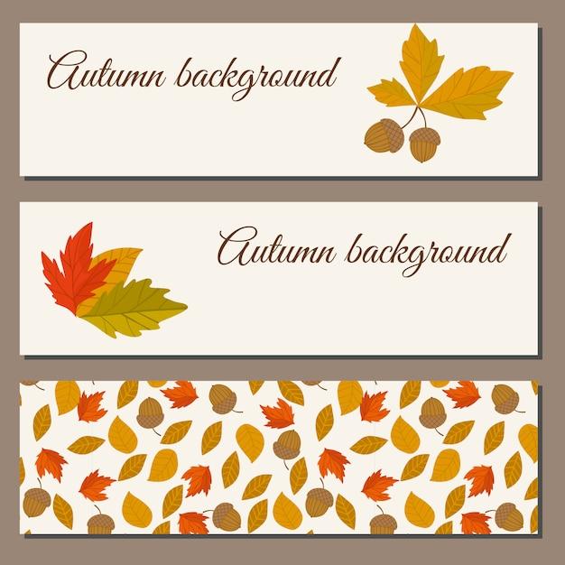 Herbst abbildung Premium Vektoren