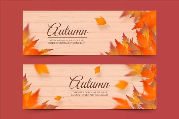 Herbst banner vorlage Premium Vektoren