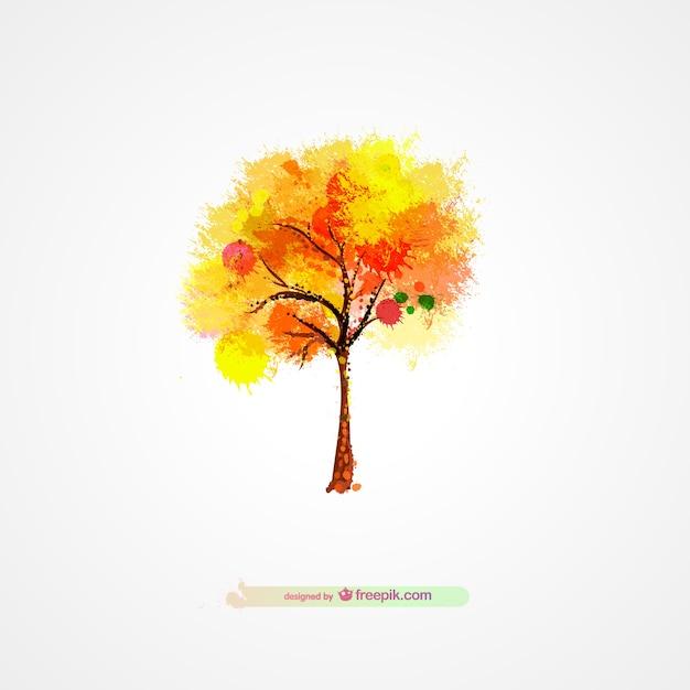 Herbst Baum Splatter-Design   Download der kostenlosen Vektor