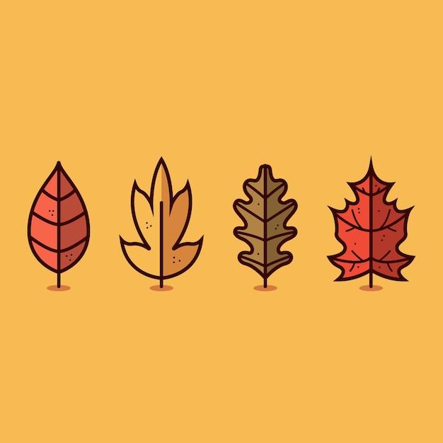 Herbst blatt symbol Premium Vektoren