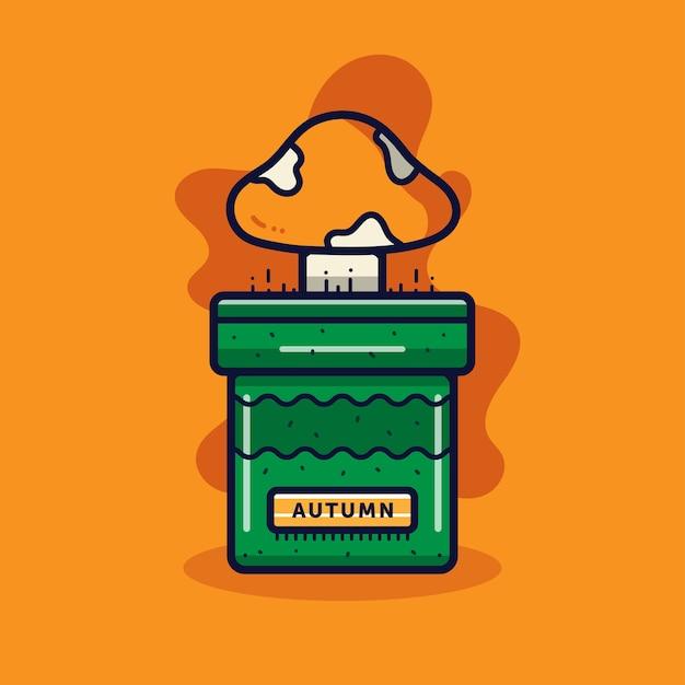 Herbst cartoon illustration Premium Vektoren