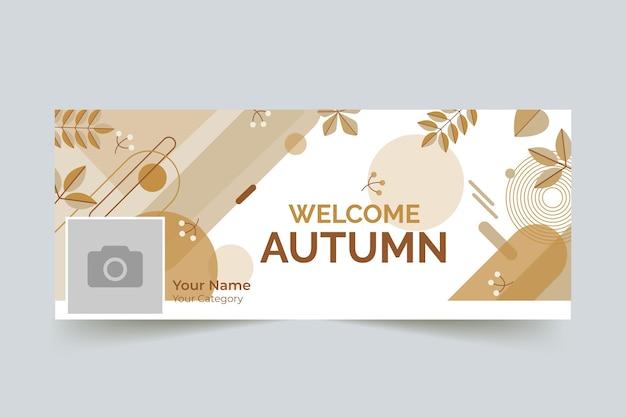 Herbst facebook cover vorlage Kostenlosen Vektoren