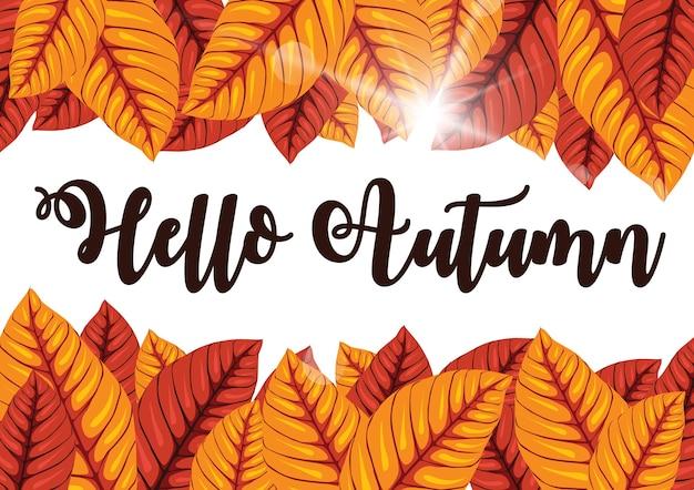 Herbst gruß hintergrund. Premium Vektoren