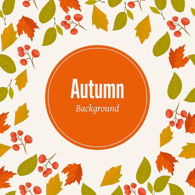 Herbst hintergrund vektor-illustration Premium Vektoren