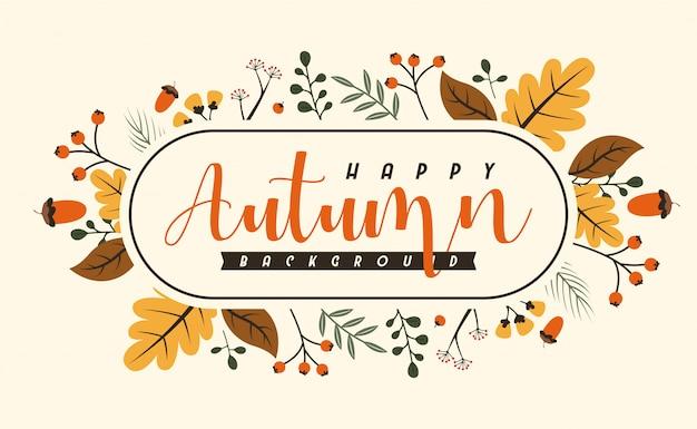 Herbst hintergrund Premium Vektoren