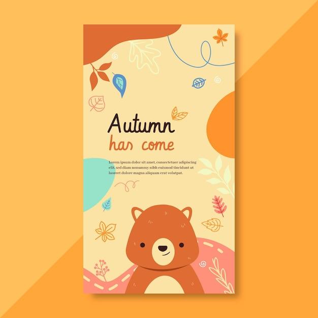 Herbst instagram geschichte vorlage Kostenlosen Vektoren