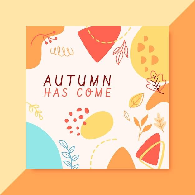 Herbst instagram post vorlage Kostenlosen Vektoren
