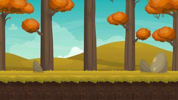 Herbst landschaft hintergrund Kostenlosen Vektoren