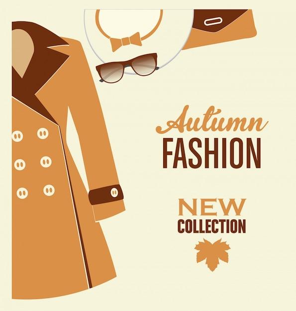 Herbst-Mode-Design Kostenlose Vektoren