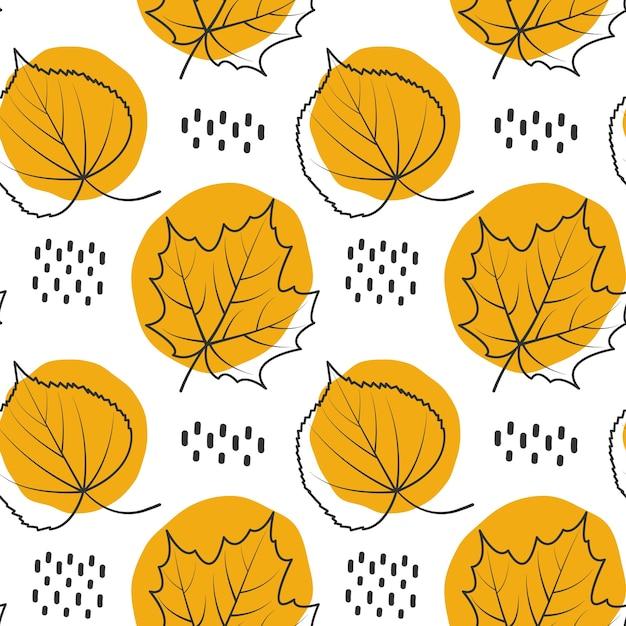 Herbst muster hintergrund verlassen Premium Vektoren