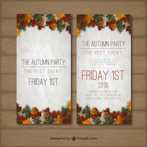HerbstParty Flyer  Download der kostenlosen Vektor