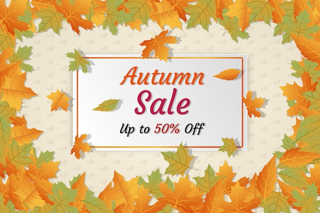 Herbst sale banner rabatt social media anzeigen Premium Vektoren