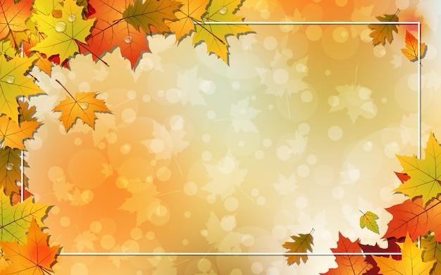 Herbstarthintergrund Premium Vektoren