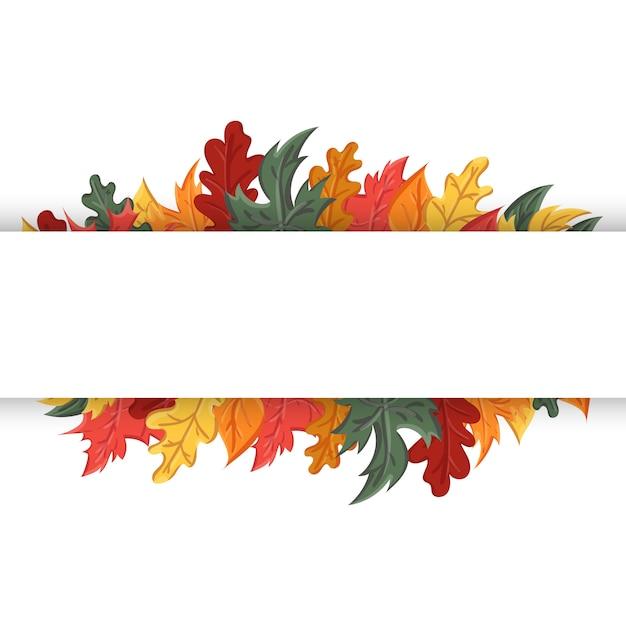 Herbsthintergrund mit dem bild eines laubfalls. Premium Vektoren