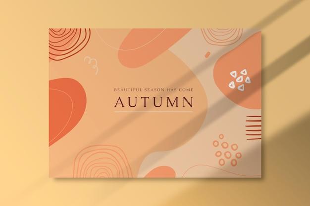 Herbstkarte mit organischen formen Kostenlosen Vektoren