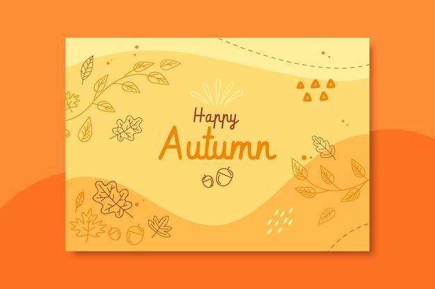 Herbstkartenvorlage Kostenlosen Vektoren