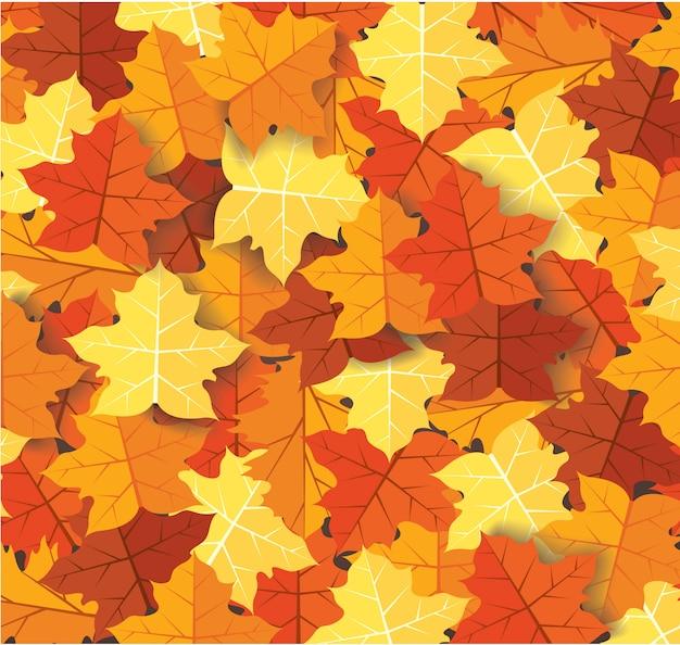 Herbstlaub hintergrund Premium Vektoren